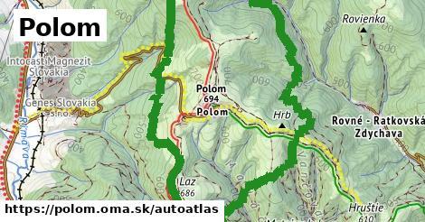 ikona Mapa autoatlas  polom