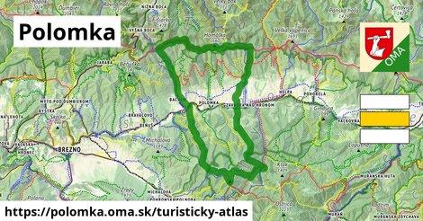 ikona Polomka: 50km trás turisticky-atlas  polomka