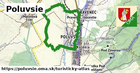 ikona Poluvsie: 0m trás turisticky-atlas v poluvsie
