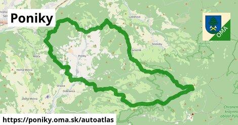 ikona Mapa autoatlas  poniky