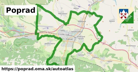 ikona Mapa autoatlas  poprad