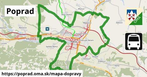 ikona Poprad: 11,4km trás mapa-dopravy  poprad
