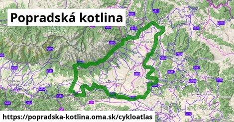 ikona Popradská kotlina: 324km trás cykloatlas  popradska-kotlina