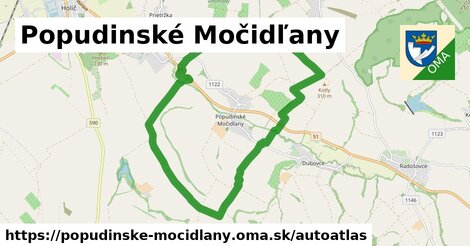 ikona Mapa autoatlas  popudinske-mocidlany
