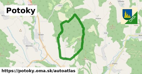 ikona Mapa autoatlas  potoky