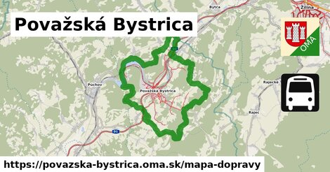 ikona Považská Bystrica: 434km trás mapa-dopravy  povazska-bystrica