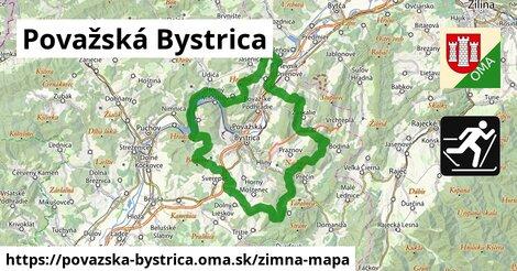 ikona Považská Bystrica: 5,5km trás zimna-mapa  povazska-bystrica