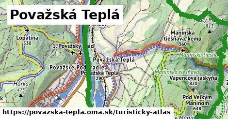 ikona Považská Teplá: 14,8km trás turisticky-atlas v povazska-tepla