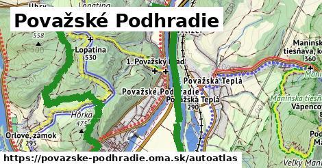 ikona Mapa autoatlas  povazske-podhradie
