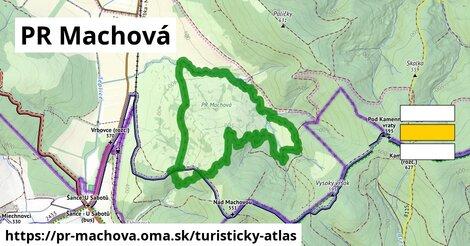 ikona PR Machová: 319m trás turisticky-atlas  pr-machova