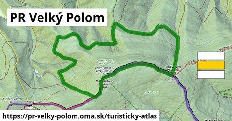 ikona PR Velký Polom: 2,5km trás turisticky-atlas  pr-velky-polom