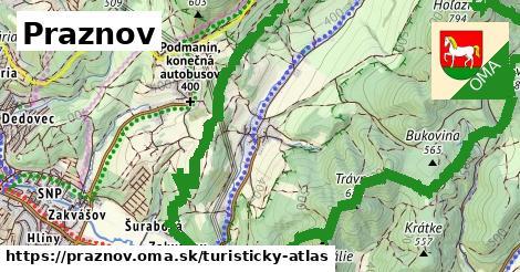 ikona Turistická mapa turisticky-atlas  praznov