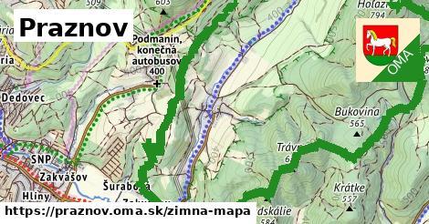 ikona Zimná mapa zimna-mapa  praznov