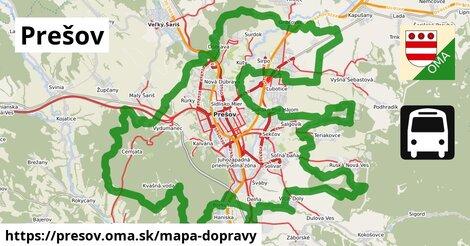 ikona Prešov: 601km trás mapa-dopravy  presov