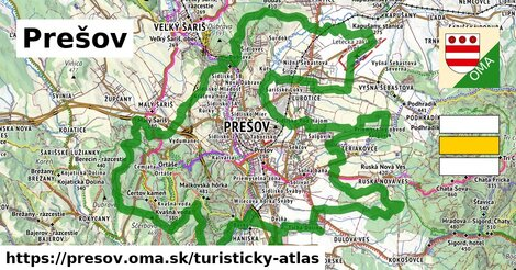 ikona Prešov: 91km trás turisticky-atlas  presov