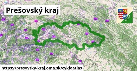 ikona Prešovský kraj: 1913km trás cykloatlas  presovsky-kraj