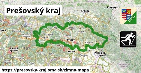 ikona Prešovský kraj: 255km trás zimna-mapa  presovsky-kraj