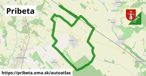 ikona Mapa autoatlas  pribeta