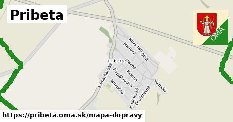 ikona Pribeta: 13,4km trás mapa-dopravy  pribeta