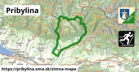 ikona Pribylina: 3,6km trás zimna-mapa  pribylina