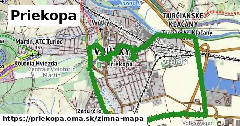 ikona Priekopa: 2,9km trás zimna-mapa  priekopa