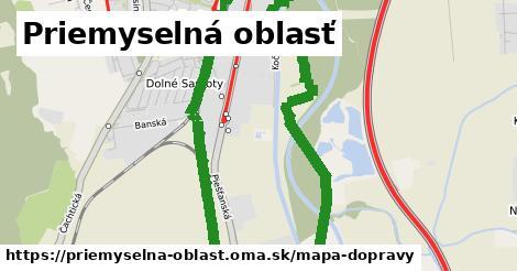 ikona Priemyselná oblasť: 6,3km trás mapa-dopravy  priemyselna-oblast