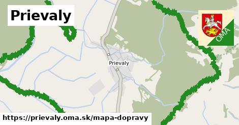 ikona Mapa dopravy mapa-dopravy  prievaly