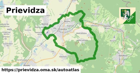 ikona Mapa autoatlas  prievidza