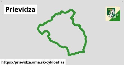 ikona Prievidza: 23km trás cykloatlas  prievidza