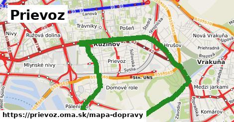ikona Prievoz: 117km trás mapa-dopravy  prievoz