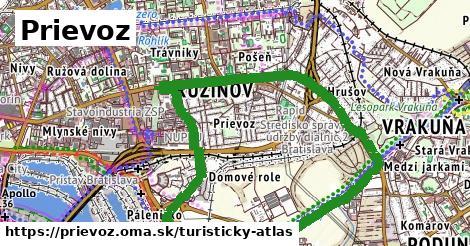 ikona Prievoz: 0m trás turisticky-atlas  prievoz