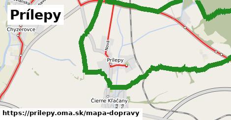 ikona Prílepy: 4,6km trás mapa-dopravy  prilepy