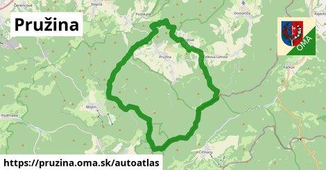 ikona Mapa autoatlas  pruzina