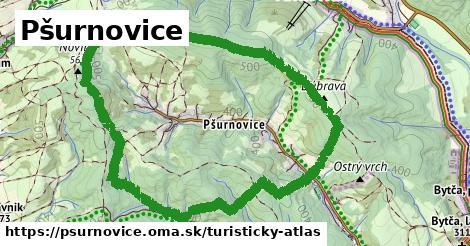 ikona Pšurnovice: 0m trás turisticky-atlas v psurnovice