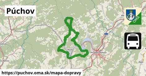 ikona Púchov: 27km trás mapa-dopravy  puchov