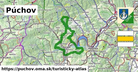 ikona Púchov: 17km trás turisticky-atlas  puchov