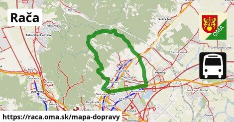 ikona Rača: 319km trás mapa-dopravy  raca