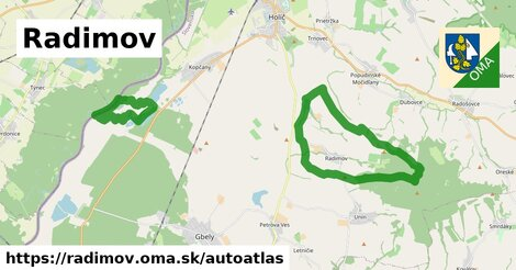 ikona Mapa autoatlas  radimov