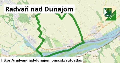 ikona Mapa autoatlas  radvan-nad-dunajom