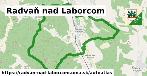 ikona Mapa autoatlas  radvan-nad-laborcom