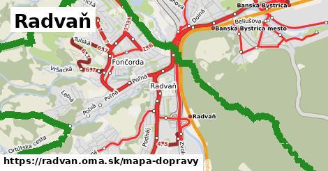 ikona Radvaň: 92km trás mapa-dopravy  radvan
