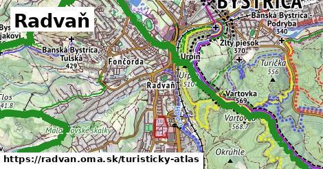 ikona Turistická mapa turisticky-atlas  radvan