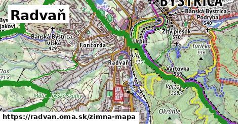 ikona Radvaň: 29km trás zimna-mapa  radvan