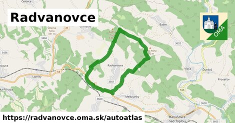 ikona Mapa autoatlas  radvanovce