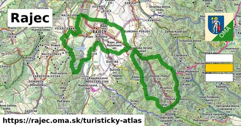 ikona Rajec: 46km trás turisticky-atlas  rajec