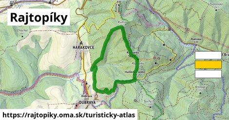 ikona Turistická mapa turisticky-atlas  rajtopiky
