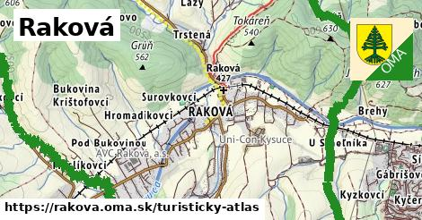 ikona Turistická mapa turisticky-atlas  rakova
