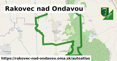 ikona Mapa autoatlas  rakovec-nad-ondavou