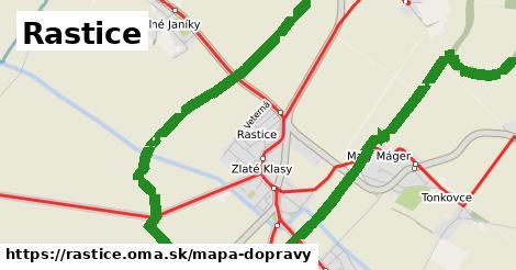 ikona Rastice: 44km trás mapa-dopravy v rastice