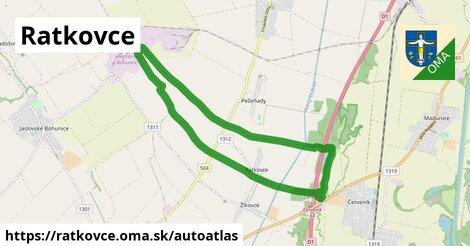 ikona Mapa autoatlas  ratkovce